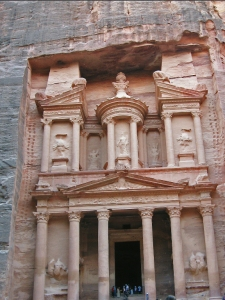 Petra, Jordan. A lot of chipping away of stone to produce The Treasury. Photo by ~~Effie-Alean