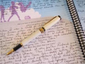 Effie's Deer Antler Pen and Writing~~Photo by Effie-Alean