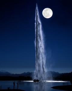 Moonlight on Fountain8X10
