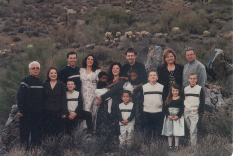 Roland & Effie Gross w/Children & Grandchildren; Fountain Hills, AZ 2002